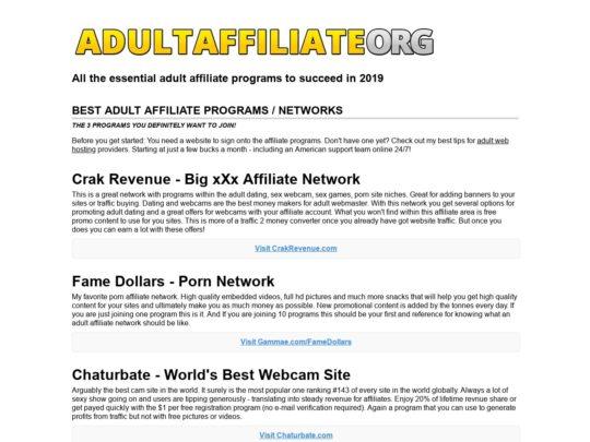 Adult Affiliate
