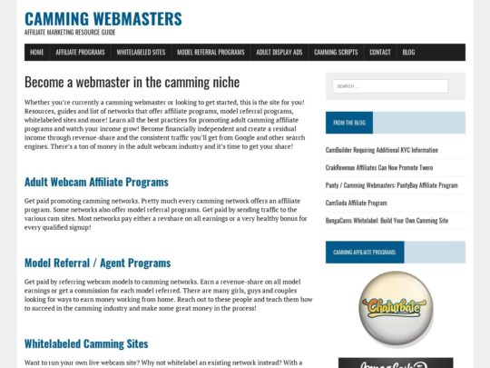 Camming Webmasters