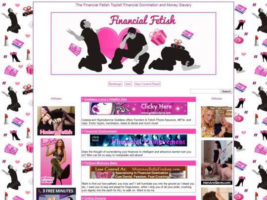 The Financial Fetish Toplist